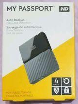 WD - My Passport 4TB External USB 3.0 Portable Hard Drive - Black - $98.18
