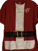 Santa T-shirt DOES THIS SUIT MAKE ME LOOK FAT? Mens Large Funny Christmas - £10.83 GBP