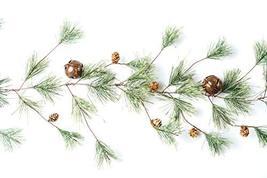 CraftMore Smokey Pine Garland with Rusty Bells 6' image 4