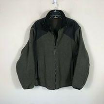 Wool Rich Wool Fleece Jacket Men's L Green Wool Blend Thick Winter Coat image 7