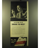 1950 Embassy Cigarettes Ad - Do you think you are smoking too much? - $14.99