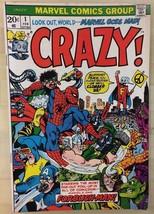 CRAZY #1 (1973) Marvel Comics VG+ - $9.89
