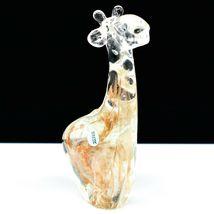 Dynasty Gallery Handmade Amber Swirl Giraffe Glow in the Dark Art Glass Figurine image 4