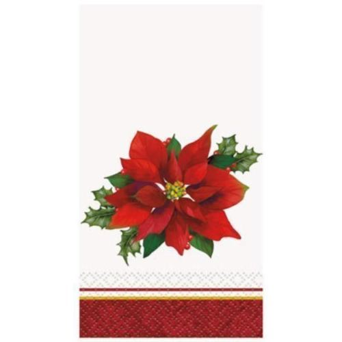 Holly Poinsettia 16 Christmas Guest Napkins Party