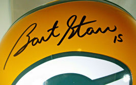 BART STARR / AUTOGRAPHED FULL SIZE GREEN BAY PACKERS THROWBACK HELMET / STEINER image 3
