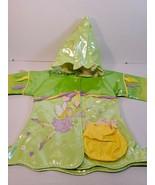 KIDORABLE FAIRY RAIN JACKET 2T GREEN WINGS FLOWER HOODED W/ POCKET (16) - $10.00