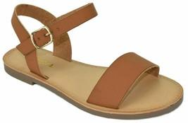Soda BigBoss Open-Toe Flat Sandal w/ Adjustable Ankle Strap, Tan PU, US ... - $19.79