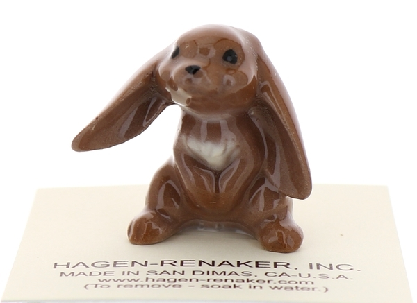 Hagen-Renaker Miniature Ceramic Rabbit Figurine Lop Ear Bunny