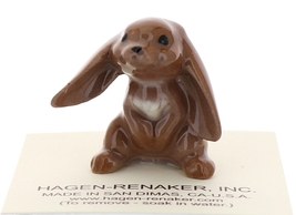 Hagen-Renaker Miniature Ceramic Rabbit Figurine Lop Ear Bunny image 1