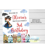 Mary Poppins Welcome Sign, Mary Poppins Birthday Welcome Poster, Digital... - $9.95