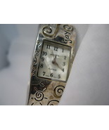 L19, GENEVA PLATINUM Ladies Silver Tone Cuff Watch, JOY, HOPE etc wb - $13.87