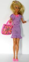 """1976 Mattel Barbie Twist N Turn Doll With Bend Knees And Handbag 11 1/2"""" - $12.00"""