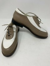 TEHAMA Italy 2 Tone Women's Soft Spike Golf Shoes Size US 7 Brown White - $19.34