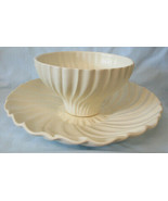 """Franciscan Coronado Matte Ivory VHF Center Piece Plate with Bowl 13 1/4"""" - $227.59"""