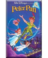 VHS - Peter Pan (1953) *Walt Disney / Black Diamond / Tinkerbell / Capta... - $6.00