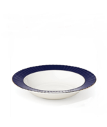 Lenox Pleated Colors Rimmed Navy Blue Soup Pasta Bowls  Set of 4 - $81.00
