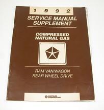 1992 Dodge Ram Van RWD B100 B150 B250 B350 Service Manual Natural Gas Supplement - $12.82