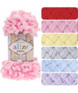6 Skeins! Alize Puffy / Yarn / wool /  (choose mixed colors or single te... - $18.02