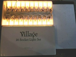 Department 56 #99278 Village 20 Socket Light Set with Working Bulbs  - $49.99