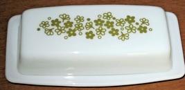 Vintage Pyrex Covered Butter Dish Springtime Blossom Crazy Daisy Milk Glass - $14.85