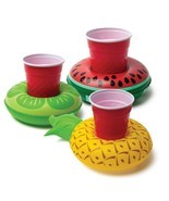 3 Pack Inflatable Pool Party Drink Floats- Pineapple Watermelon Lemon - $7.99