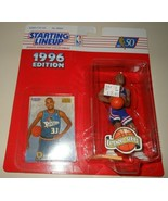 Grant Hill 1996 Starting Lineup Basketball Action Figure SLU Kenner Pistons - $10.75