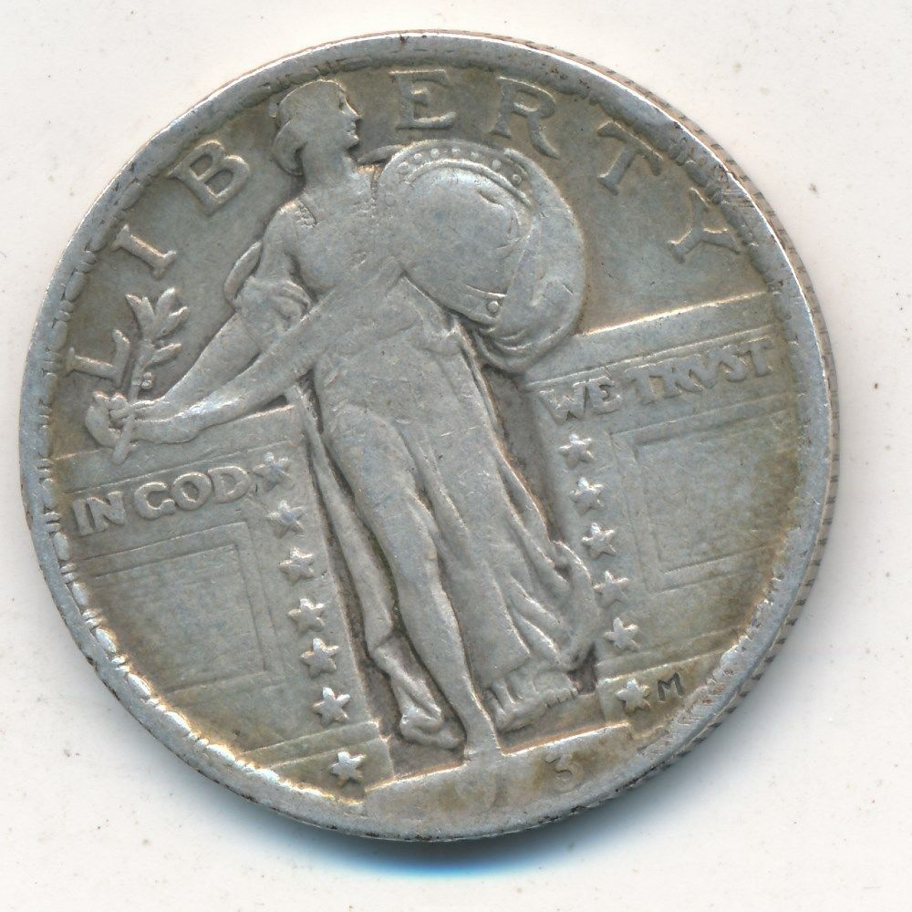1923 STANDING LIBERTY SILVER QUARTER-NICE CIRCULATED QUARTER-SHIPS FREE!