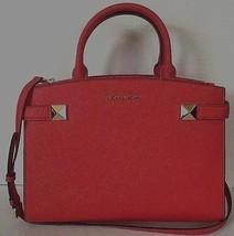New Michael Kors Karla medium East West satchel handbag Leather Dark San... - $129.00
