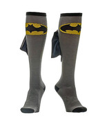 Batman Knee High Shiny Cape Socks Grey - $16.98