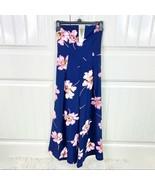 Fashion Nova Womens Pretty Lies Navy Blue Floral Strapless Jumpsuit Size... - $29.69