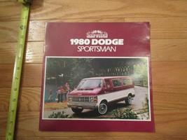 Dodge Sportsman Van Ram Tough 1980 car Dealer showroom Sales Brochure  - $10.99