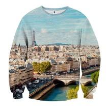 Eiffel Tower Paris Romantic Landscape Sweatshirt - $36.99