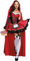Women's Dream Girl Little Red Riding Hood Deluxe Fantasy Costume Set image 4