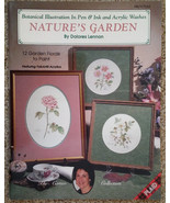 Natures Garden By Dolores Lennon Pen Ink Acrylic Washes Tole Painting Bo... - $12.98