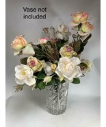 Bouquet Shabby Chic Roses Wedding Home Decor Flower Artificial Flowers Fake - $39.59