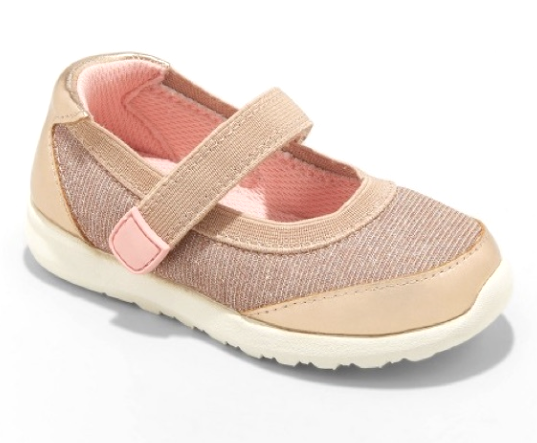 Cat & Jack Girls Rose Gold Eva Slip-On Flats Sneakers Toddler Size 7 US