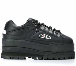 Fila Trail Blazer Wedge Black Chunky Sneakers Women Shoes 5HM00524013 - $126.00