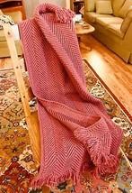 Handmade Crochet Afghan Throw - Lovely Rose Color Herringbone - $95.00