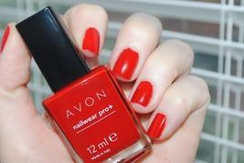 "Avon Nailwear Pro+ Nail Enamel ""Real Red - $4.25"