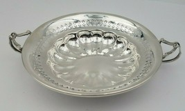 Beautiful Sterling Silver Nut or Candy Bowl w/ Handles & Piercing  #6554 - $89.00