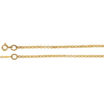 14K Solid Yellow Gold 2 mm Rolo Chain - $586.42+