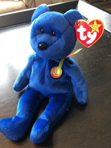 Rare & Errors Ty B EAN Ie Baby: Blue Clubby With Red Star On Tush Tag Kr Market! - $338.57