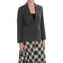 NWT $249 Womens Pendleton Woolen Mills One Button Blazer in Gray Wool sz 4 - $47.12