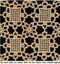 4X Wagon Wheel Lace Rosettes Leaf Flower Tablecloth Crochet Pattern image 7