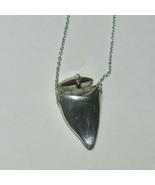 """Tiffany & Co Elsa Peretti Baby's 1st Tooth Shark Tooth Locket 25"""" Neckla... - $551.98"""