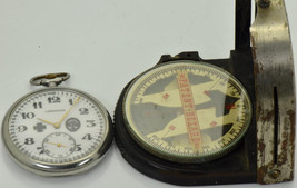 Rare WWI German Panzer Skull Tank brigade Officer's Longines watch&Compa... - $2,500.00