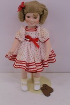 """SHIRLEY TEMPLE PORCELAIN DOLL """"STAND UP AND CHEER"""" 14, Danbury Mint - $90.00"""