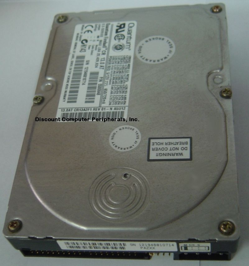 "13GB 3.5"" IDE 40 PIN Drive Quantum CR13A2F1 QM313000CR-A Our Drives Work"