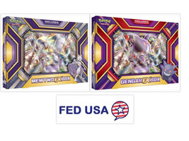 POKEMON TCG 2 Collection Boxes Gengar EX Box + Mewtwo EX Gift Boxes Sealed Packs - $51.99