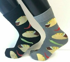 2 PAIRS Foozys Men's Socks TACO Peppers, New Ships Free - $8.99